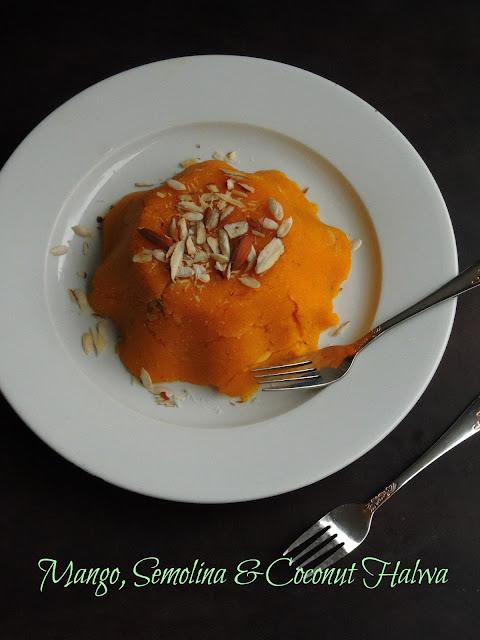 Mango, Semolina & Coconut Halwa