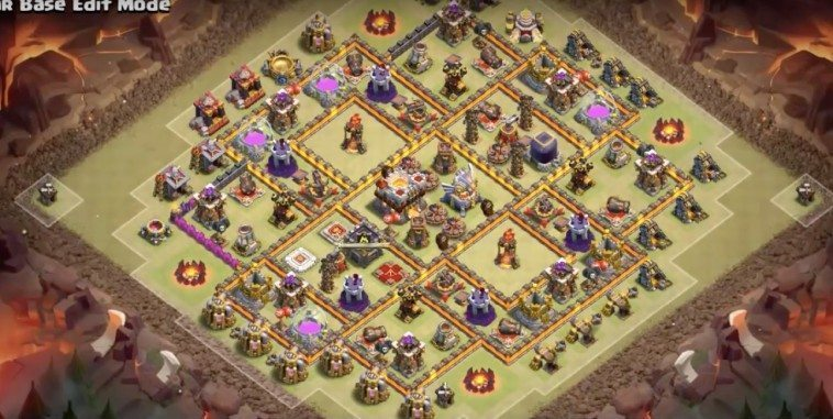 Base WAR Anti Minion , Blower dan Valkrye TH11
