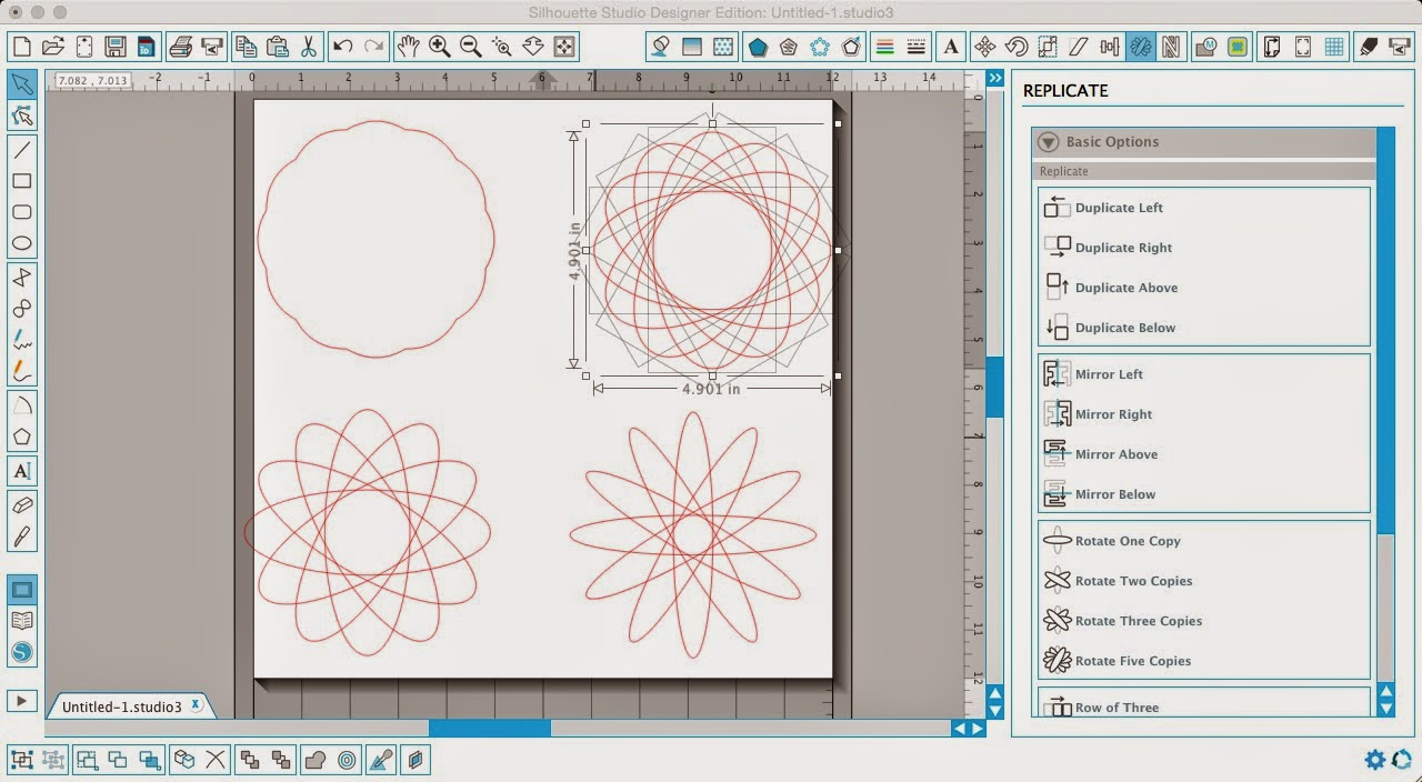 Silhouette Studio, Silhouette tutorial, designing, scalloped circle, flower, weld