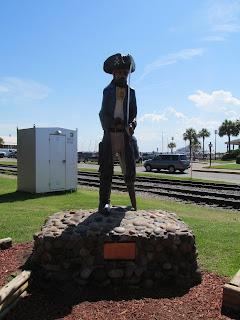 Amelia Island pirate statue