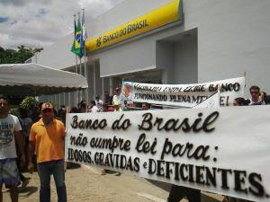 Mobilização pela reabertura do Banco do Brasil em Cuité chamou a atenção da sociedade