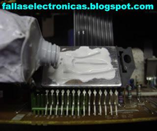 aplicacion de silicona a integrado panasonic