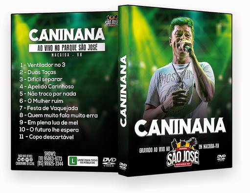 CAPA DVD – Caninana Ao Vivo DVD-R