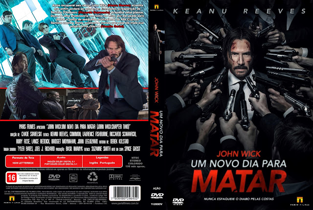 Capa DVD John Wick Um Novo Dia Para Matar