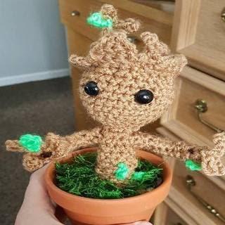 Free Crochet Groot Pattern | Patrones amigurumi, Regalos de ... | 320x320