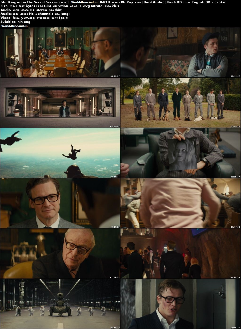 Kingsman The Secret Service 2014 worldfree4u BRRip 720p Dual Audio Download