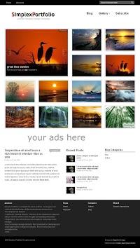 Simplex Portfolio Blogger Template