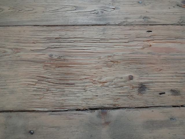 large dip in floorboard