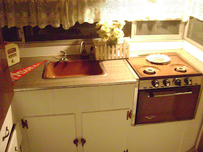 Amys vintagetrailers cute vintage trailer for sale for Kitchen cabinets 08094