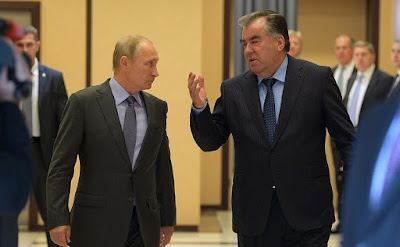 Vladimir Putin meeting with Emomali Rahmon in Sochi.