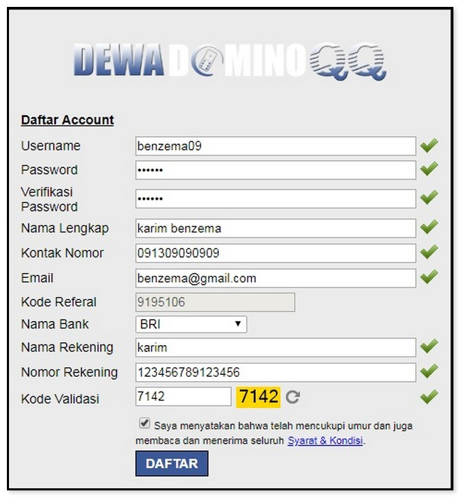 Cara Mendaftar Akun Domino DewadominoQQ - DaftarAkunDomino.Com