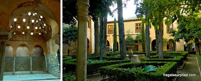 Banhos e jardins dos palácios násridas da Alhambra
