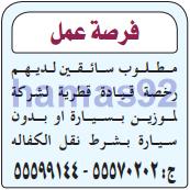 وظائف الصحف القطرية الاثنين 20-02-2017