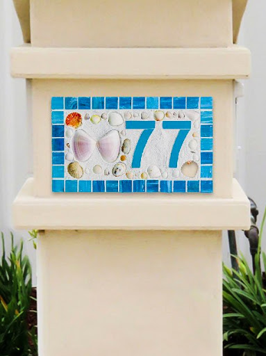 Mosaic House Number Plaques