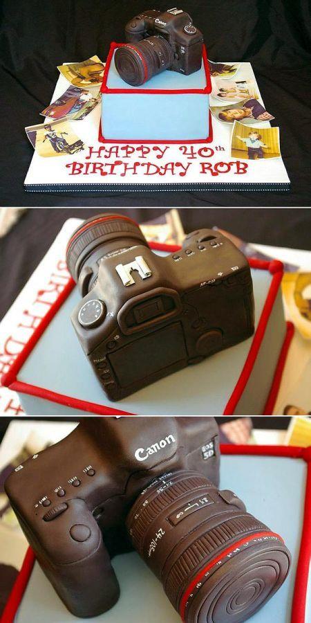 Bánh sinh nhật máy ảnh cho người yêu chụp ảnh