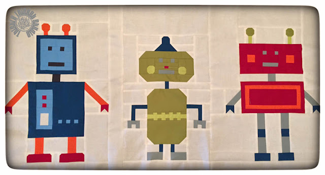 Robots All In A Row By Thistle Thicket Studio. www.thistlethicketstudio.com