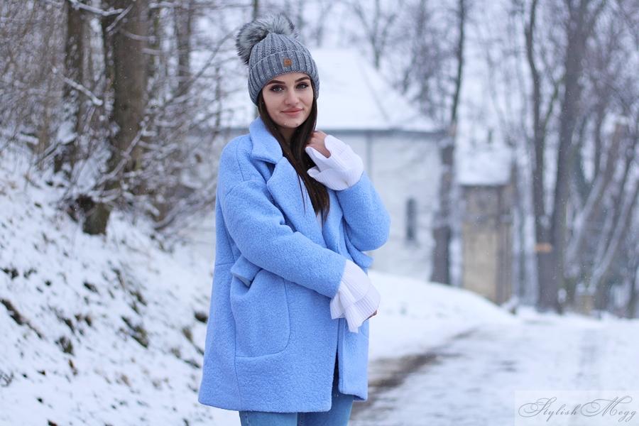 płaszczyk baby blue