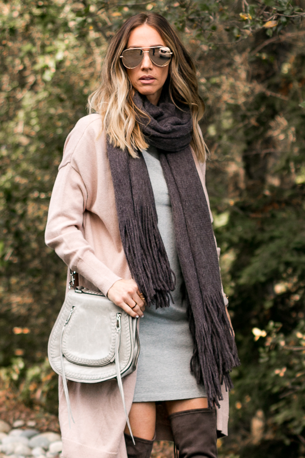 long grey scarf fringe free people
