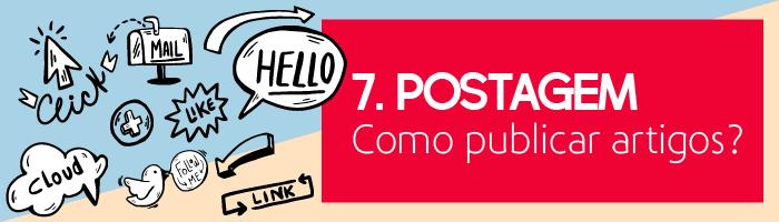 Postagem - como publicar artigos?