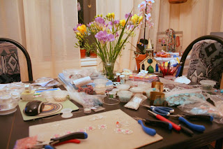 My messy 'studio' :: All Pretty Things