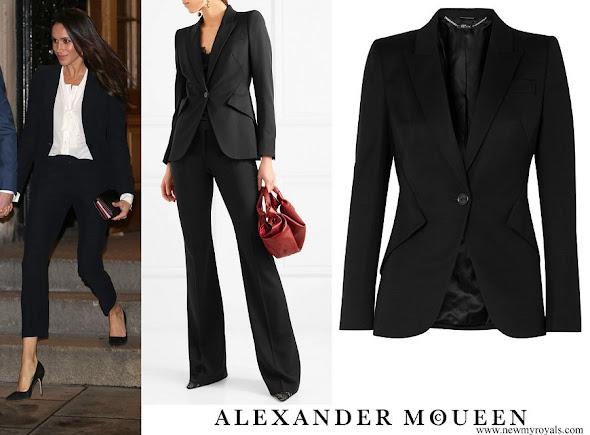 Meghan Markle wore ALEXANDER MCQUEEN Blazer