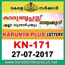 kl result yesterday,lottery results, lotteries results, keralalotteries, kerala lottery, keralalotteryresult, kerala lottery result, kerala lottery result live, kerala lottery results, kerala lottery today, kerala lottery result today, kerala lottery results today, today kerala lottery result, kerala lottery result 27.7.2017 karunya-plus lottery kn 171, karunya plus lottery, karunya plus lottery today result, karunya plus lottery result yesterday, karunyaplus lottery kn171, karunya plus lottery 27.7.2017