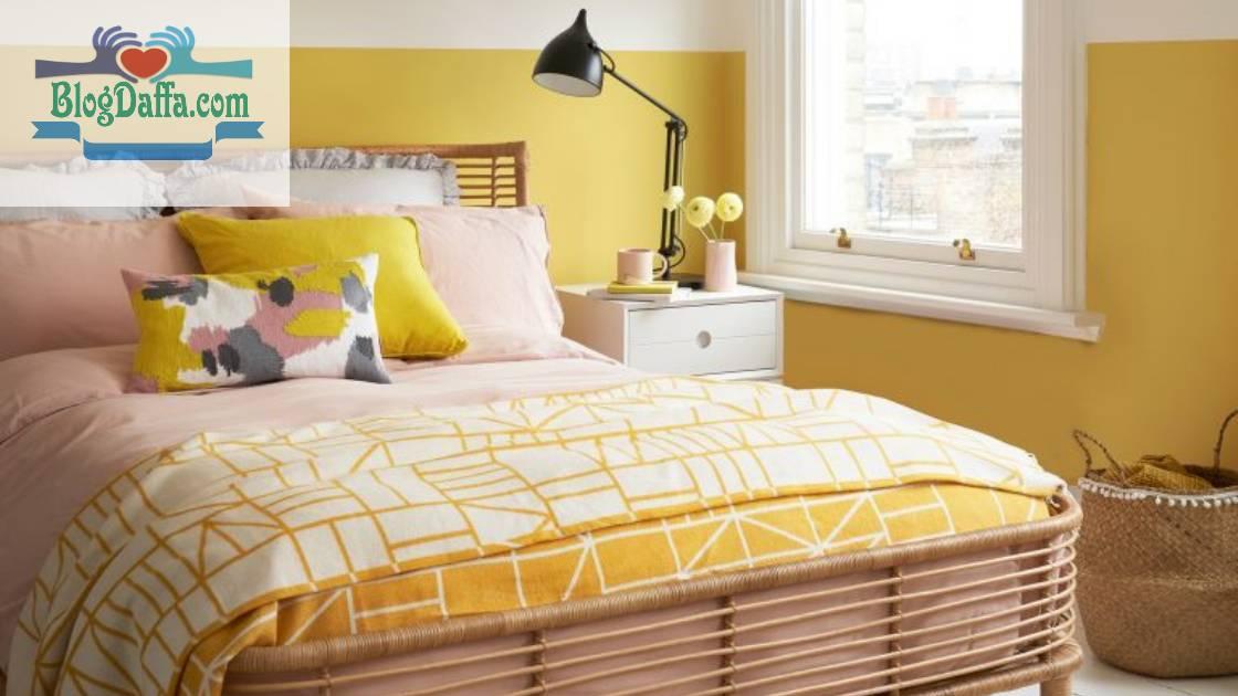Warna cat kamar tidur kuning emas