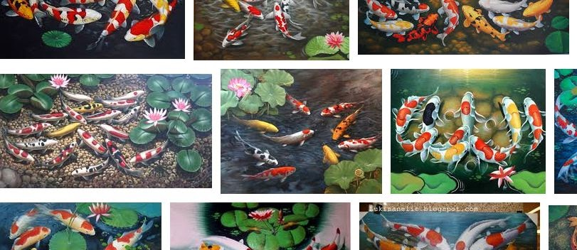 Gambar Lukisan Ikan Koi yang Cantik dan Indah - infoikan.com