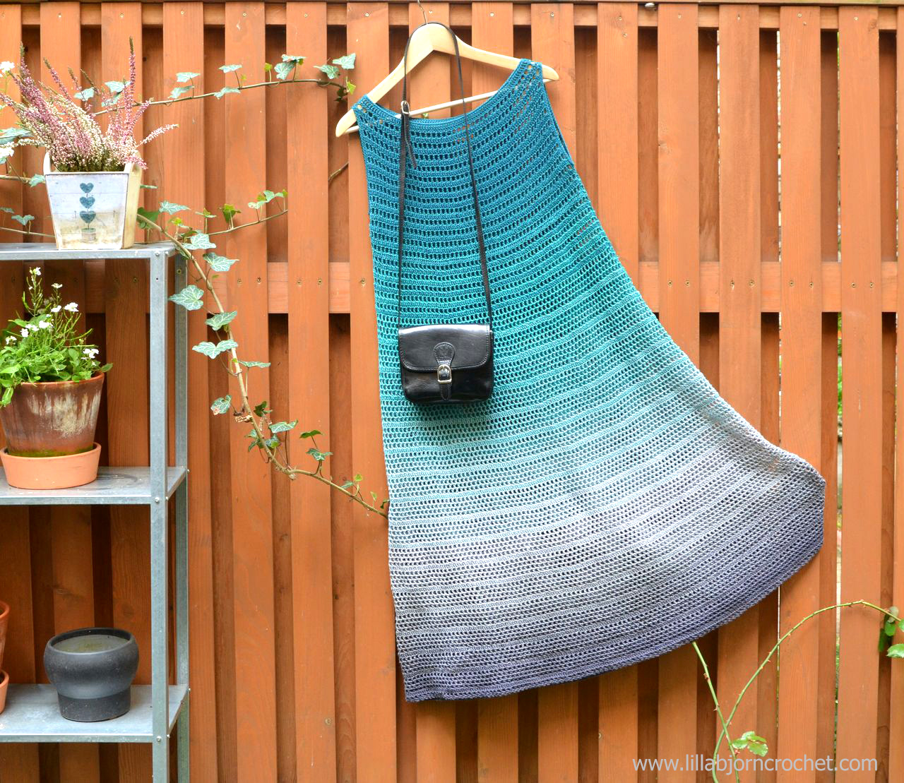 Whirl crochet dress - designed by Lilla Bjorn