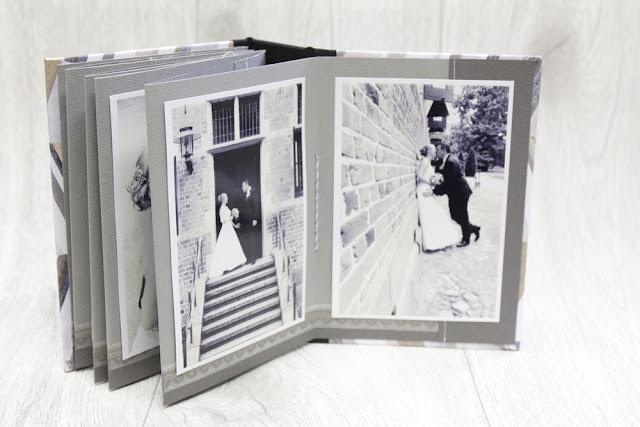 Graupappealbum mit interessantem Buchrücken