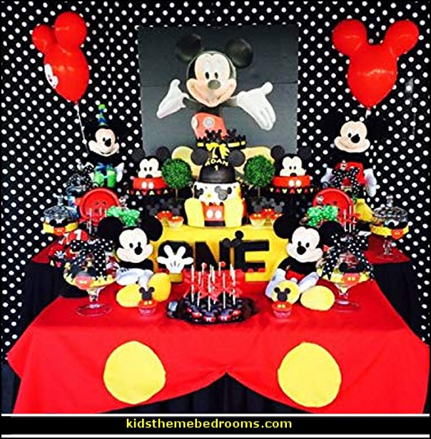 Mickey Mouse birthday themed party decorations