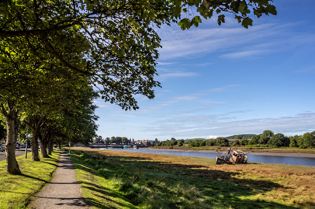 Photo of the path out of Kirkcudbright along the River Dee