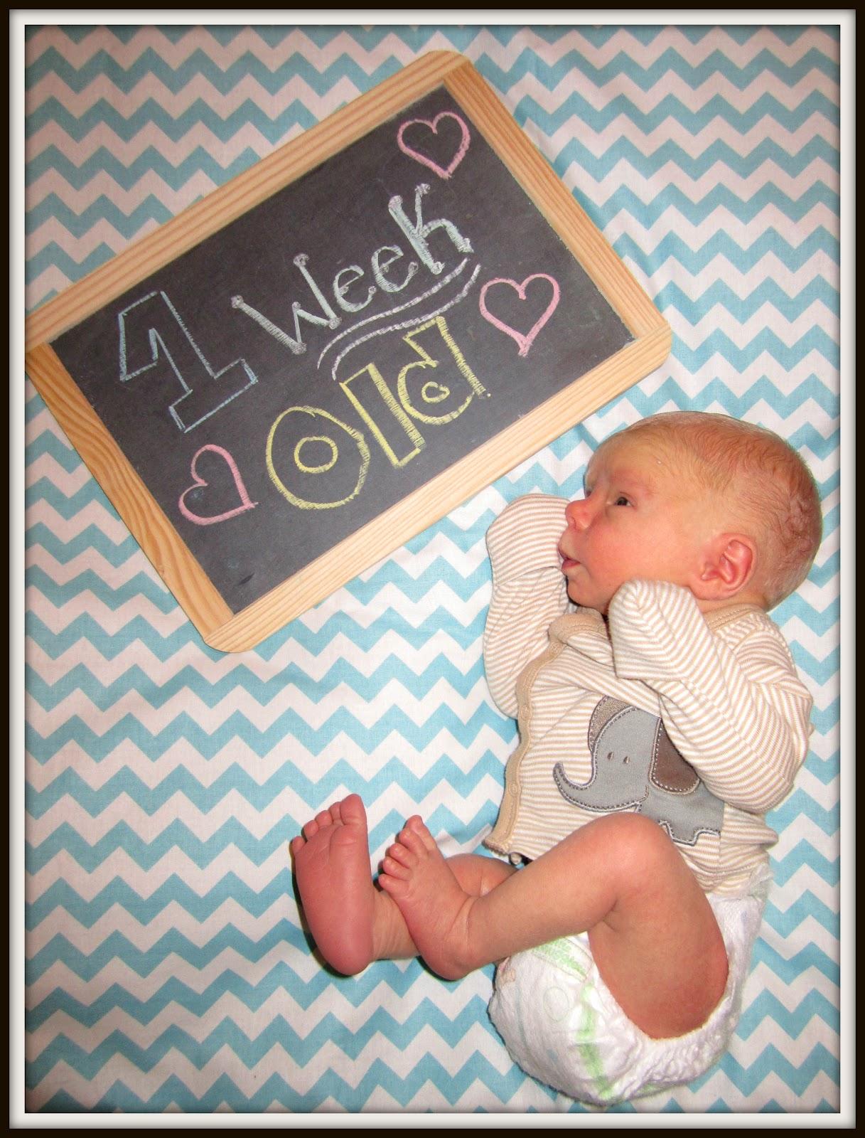us two baby jax is 1 week old