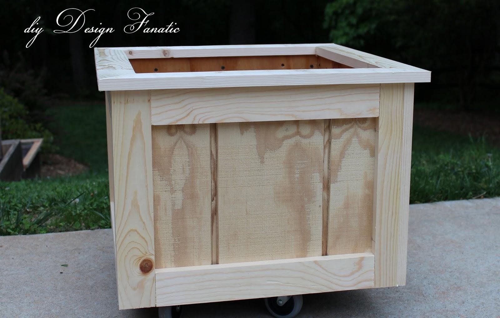 diy design fanatic how to make a wood planter box - Wood Planter Box