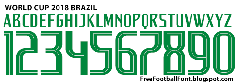 Free Football Fonts: World Cup 2018 Brazil Nike Font