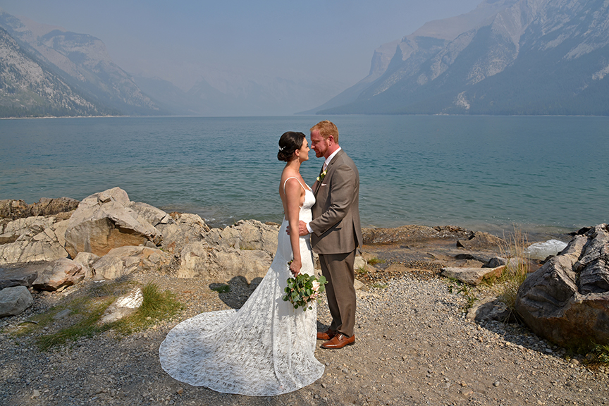 Smoky Elopement Wedding Banff