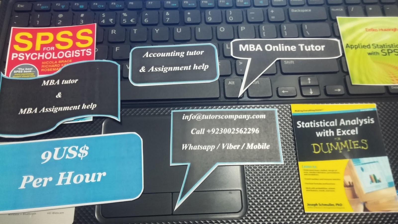 statistics assignment mba