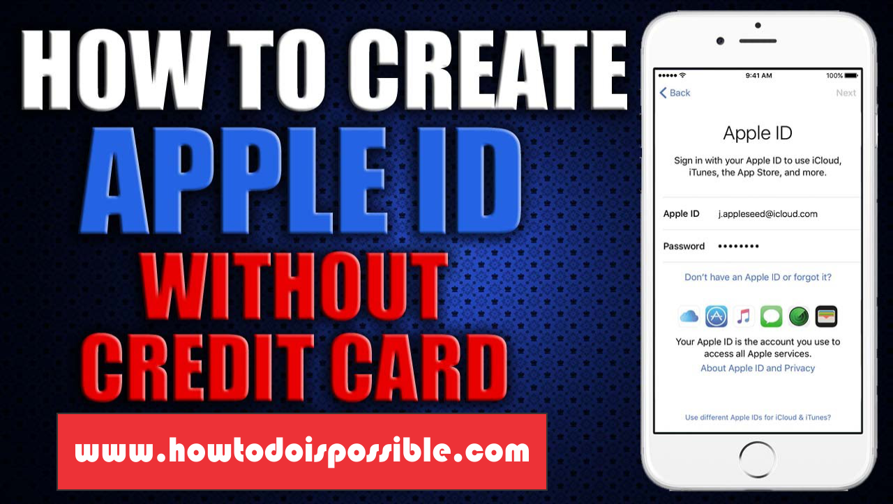 Hi Everybody, Today I Will Tell You About Create New Apple Id Without  Credit Card