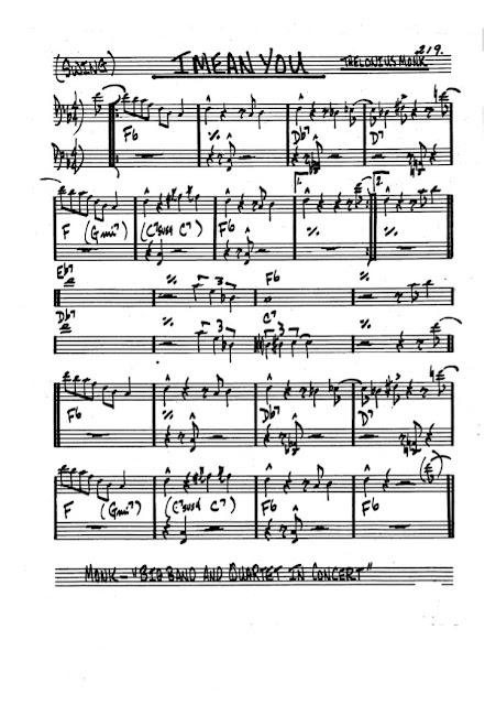 Partitura Bajo Thelonious Monk