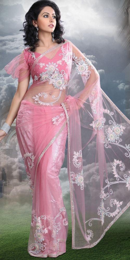 Rakul Preet Singh in Pink Designer Saree
