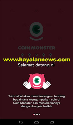 Pulsa android gratis dari coin monster aplikasi lock screen