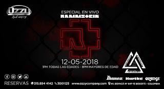 Concierto TRIBUTO a Rammstein en Bogotá