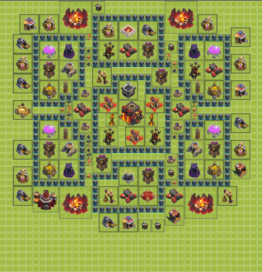 Clash Of Clans Defensive Base Layout Design [Town Hall