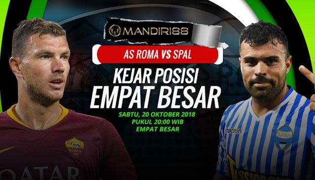 Prediksi AS Roma Vs SPAL 2013, Sabtu 20 Oktober 2018 Pukul 20.00 WIB