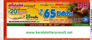 Win Win Lottery W-413 Results 5-6-2017