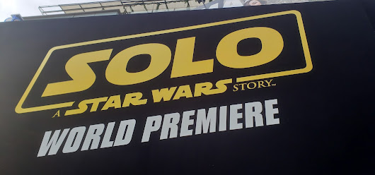 An adventure like no other the walking the red carpet for the Solo: A Star Wars Story premiere #HanSoloEvent