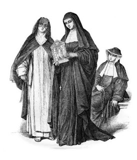 Ursuline nun and acolyte]