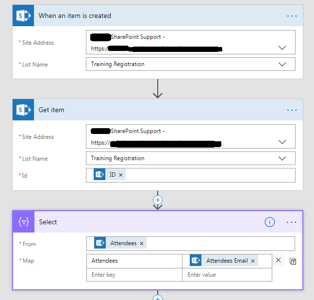 SharePoint Administration: Microsoft Flow | Send mail to Multiple