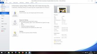Klik File - Save As - Ms. Word 2010