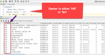 SQL OR Example explaining the usage of the OR operator